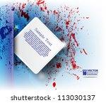 eps10 vector abstract ink... | Shutterstock .eps vector #113030137