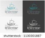 ancient trireme greek ship  ...   Shutterstock .eps vector #1130301887