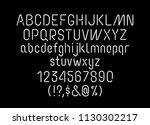 neon linear tube font ... | Shutterstock .eps vector #1130302217
