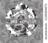 genuine quality on grey... | Shutterstock .eps vector #1130304071