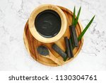facial mask and scrub by...   Shutterstock . vector #1130304761