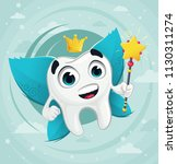 cute cartoon  tooth fairy | Shutterstock .eps vector #1130311274