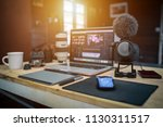 studio office house the laptop... | Shutterstock . vector #1130311517