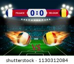 france versus belgium football... | Shutterstock .eps vector #1130312084