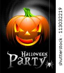 halloween party background with ... | Shutterstock . vector #113032219