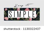 keep it simple slogan with... | Shutterstock .eps vector #1130322437