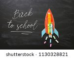 back to school concept. top... | Shutterstock . vector #1130328821