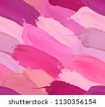 seamless pattern with lipstick... | Shutterstock . vector #1130356154
