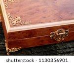 box of mahogany wawona handmade ... | Shutterstock . vector #1130356901