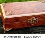 box of mahogany wawona handmade ... | Shutterstock . vector #1130356904