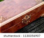 box of mahogany wawona handmade ... | Shutterstock . vector #1130356907