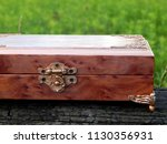 box of mahogany wawona handmade ... | Shutterstock . vector #1130356931