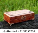 box of mahogany wawona handmade ... | Shutterstock . vector #1130356934