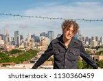 attractive forty something man... | Shutterstock . vector #1130360459