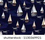 beautiful hand drawn summer... | Shutterstock .eps vector #1130369921