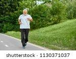 old man running on modern city...   Shutterstock . vector #1130371037