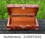 box of mahogany wawona handmade ... | Shutterstock . vector #1130372231