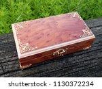 box of mahogany wawona handmade ... | Shutterstock . vector #1130372234