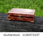 box of mahogany wawona handmade ... | Shutterstock . vector #1130372237