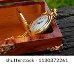 box of mahogany wawona handmade ... | Shutterstock . vector #1130372261