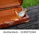 box of mahogany wawona handmade ... | Shutterstock . vector #1130372264