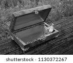 box of mahogany wawona handmade ... | Shutterstock . vector #1130372267