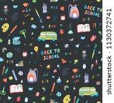 back to school seamless doodle... | Shutterstock .eps vector #1130372741