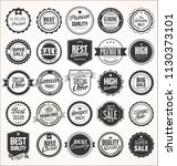 retro vintage badges collection | Shutterstock .eps vector #1130373101
