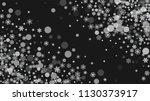 snowflake border for christmas...   Shutterstock .eps vector #1130373917