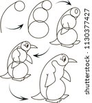 drawing tutorial for children.... | Shutterstock .eps vector #1130377427
