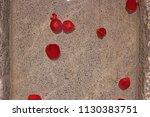 rose petals in water in grey... | Shutterstock . vector #1130383751