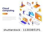 cloud computing modern flat... | Shutterstock .eps vector #1130385191