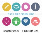 flat ui 8 color girls fashion... | Shutterstock .eps vector #1130385221