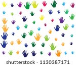 hands  palms isolated on white...   Shutterstock .eps vector #1130387171