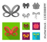 multicolored bows cartoon black ... | Shutterstock .eps vector #1130388899