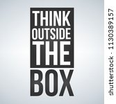 think outside the box concept . ... | Shutterstock .eps vector #1130389157