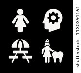 filled set of 4 people icons... | Shutterstock .eps vector #1130394161