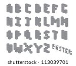 cube font   Shutterstock .eps vector #113039701