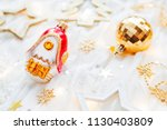 christmas and new year holiday... | Shutterstock . vector #1130403809
