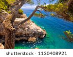 zlatne stijene stone beach in... | Shutterstock . vector #1130408921