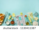 bakery food frame  cooking... | Shutterstock . vector #1130411387
