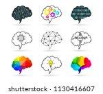 brain concept. set made of... | Shutterstock .eps vector #1130416607