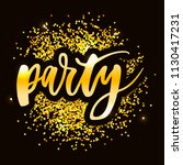 let's party lettering... | Shutterstock .eps vector #1130417231