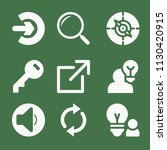 filled set of 9 interface icons ... | Shutterstock .eps vector #1130420915