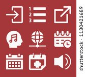 filled set of 9 interface icons ... | Shutterstock .eps vector #1130421689