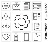 set of 13 simple editable icons ... | Shutterstock .eps vector #1130431529
