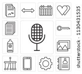 set of 13 simple editable icons ... | Shutterstock .eps vector #1130431535