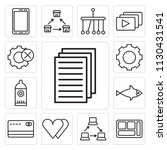 set of 13 simple editable icons ... | Shutterstock .eps vector #1130431541