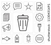set of 13 simple editable icons ... | Shutterstock .eps vector #1130431691