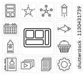set of 13 simple editable icons ... | Shutterstock .eps vector #1130431739